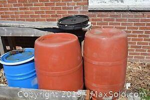 Plastic Barrels. A