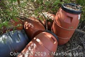 Barrels With Lids C