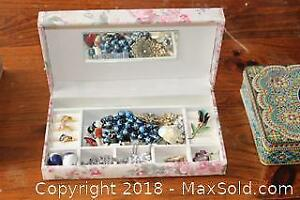 Jewellery Box With Contents - A