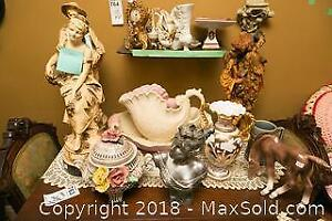Statues Vase And Wash Basin A