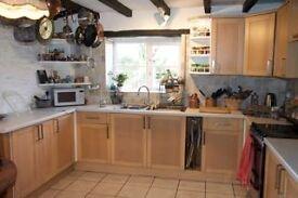 Kitchen units, doors, sink, worktop - pick up LD82PD Presteigne, Wales.