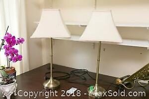 Pair of Table Lamps - A