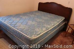 Bed Frame Head Board And Mattresses. C