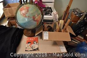 Vintage Globe And Office Supplies. A