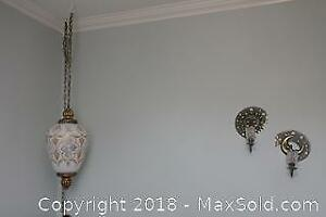 Swag Lamp and Sconces. A