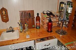 Wine Rack, Dispenser, Ice Bucket B