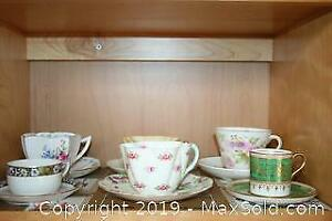 Six Teacups And Saucers A