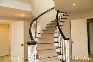 Wooden Basement Banister and Pickets F