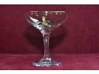 Set of 6 Vintage Babycham glasses in very good condition