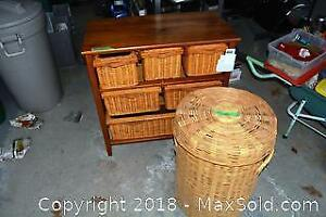 Storage Stand And Wicker A