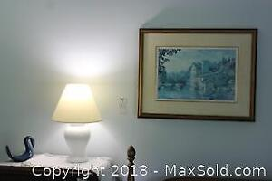 Lamp And Print. A