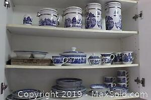 Blue And White Dishes B