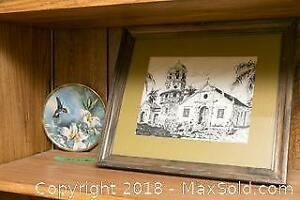 Original Drawing And Collectors Plate- A