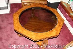 Glass Top Octagonal Coffee Table