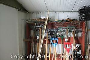 Spreader and Gardening Tools. C