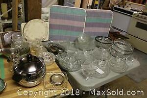 Glass Serving Dishes. B