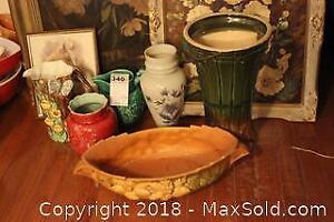 Original Art And Vases. C