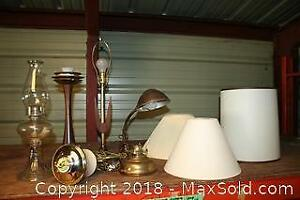 Antique Oil Lantern, Lamps and Shades