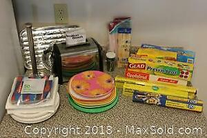 Hamilton Beach Toaster, Plastic Dishes, Food Wrap and More