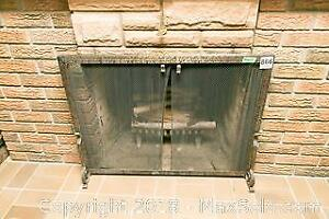 Fireplace Screen Stand A