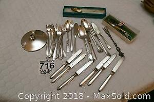 Silver Plate Canape Cutlery - A