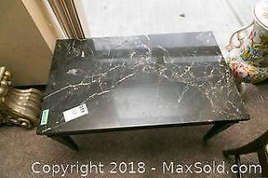 Marble Top Coffee Table- A