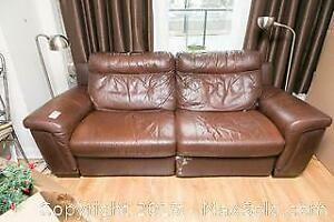 Faux Leather Recliner Couch C