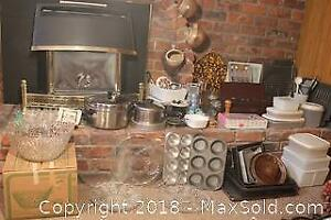 Bakeware, Glassware, Punch Bowl And More A