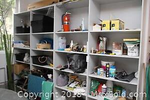 Contents Of Garage Cupboards- B