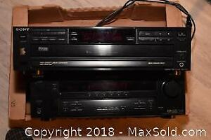 Stereo Receiver and CD Player. A