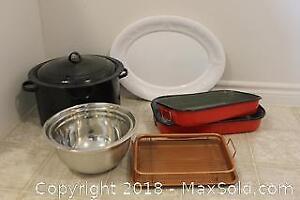 Corn Pot, Mixing Bowls, Platter and More