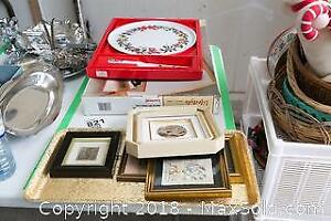 Framed Papyrus Arts, Trays And More A
