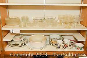 Glassware and China. B