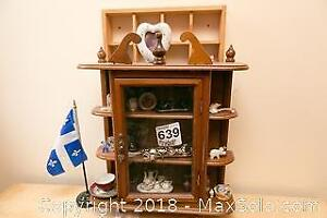 Curio Wall Cabinet and Miniatures A