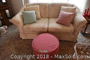Love Seat With Ottoman C