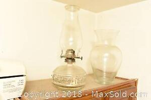 Oil Lamp And Vase - C