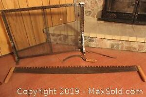 Saw, Sickle And Fireplace Screen. C