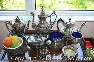 Silver Plate Teapots, Italian Marble Fruit and More