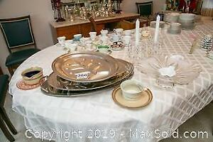 Serving Platters, Candle Holders And More A