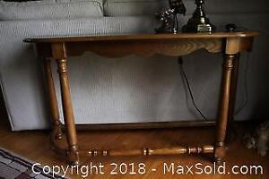 Solid Oak Sofa Table C