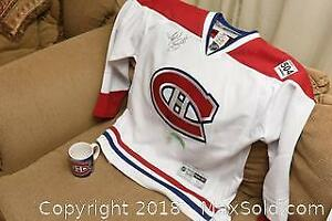 Signed Montreal Canadians Jersey A
