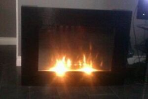 Remote electric fireplace