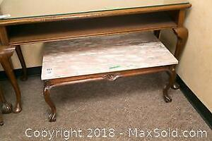 Marble Top Coffee Table- B