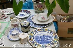 Vintage China And Plant- A