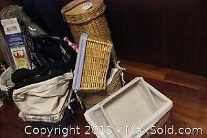 Wicker Baskets And Bags. A