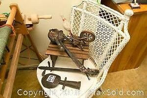 Vintage Miniature Bench and Asian Instruments B