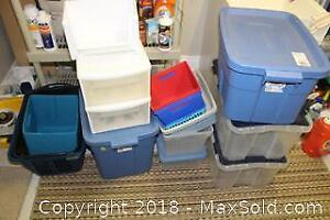 Storage Containers And Milk Crates - B
