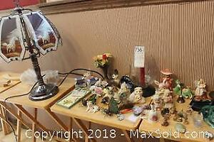 Decorative Figures And Lamp. A