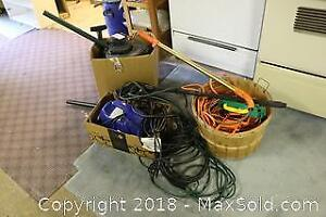 Vacuum, Pressure Washer And Extension Cords. B