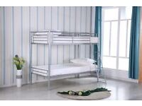 Single metal bunk beds